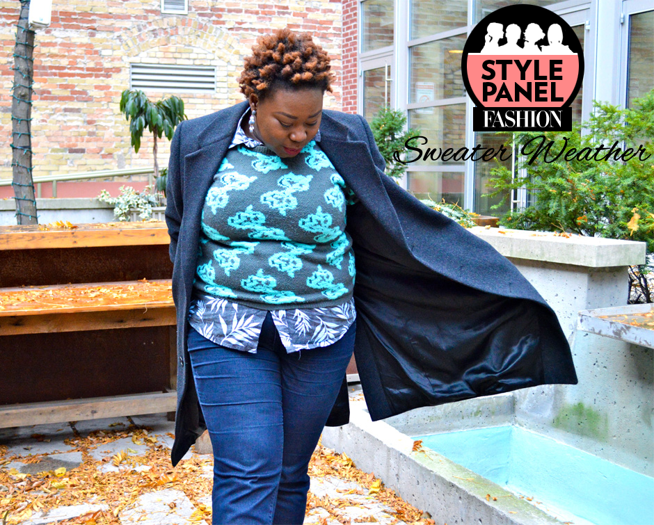 how to wear plus size sweaters