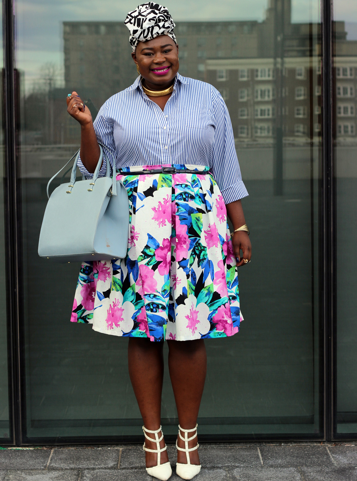 plus size spring floral skirt 06