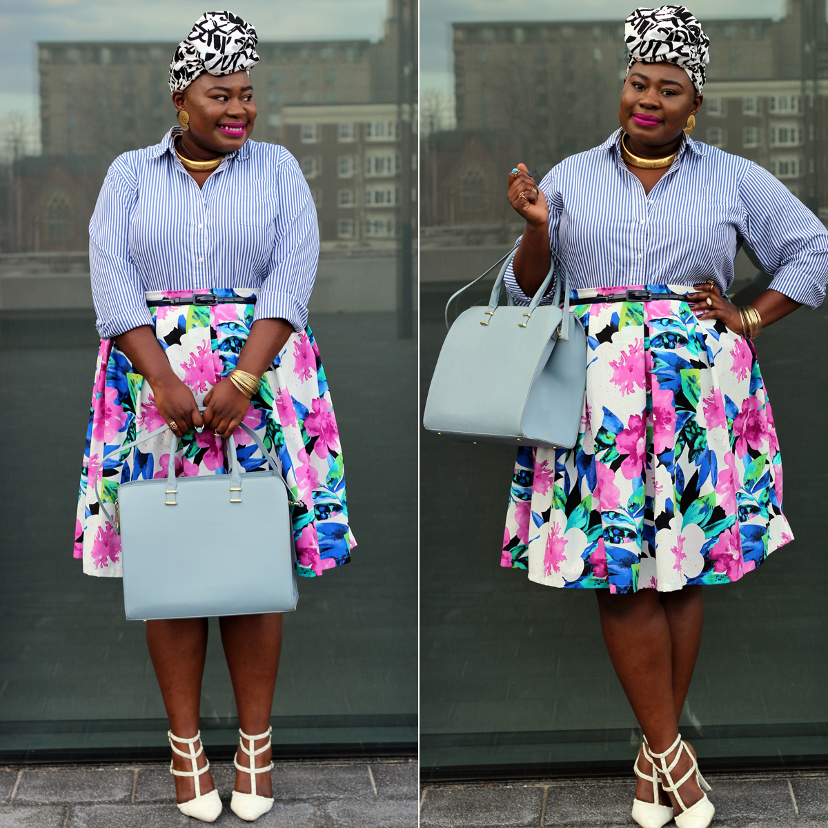 plus size spring floral skirt 07