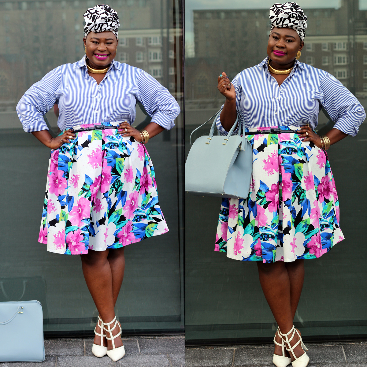 plus size spring floral skirt 10