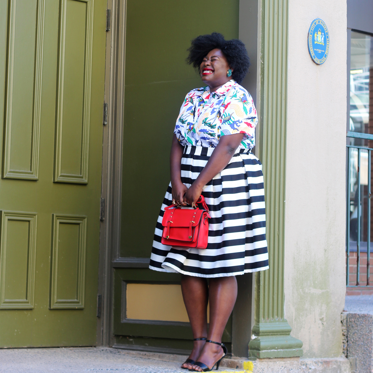 plus size horizontal stripes 03