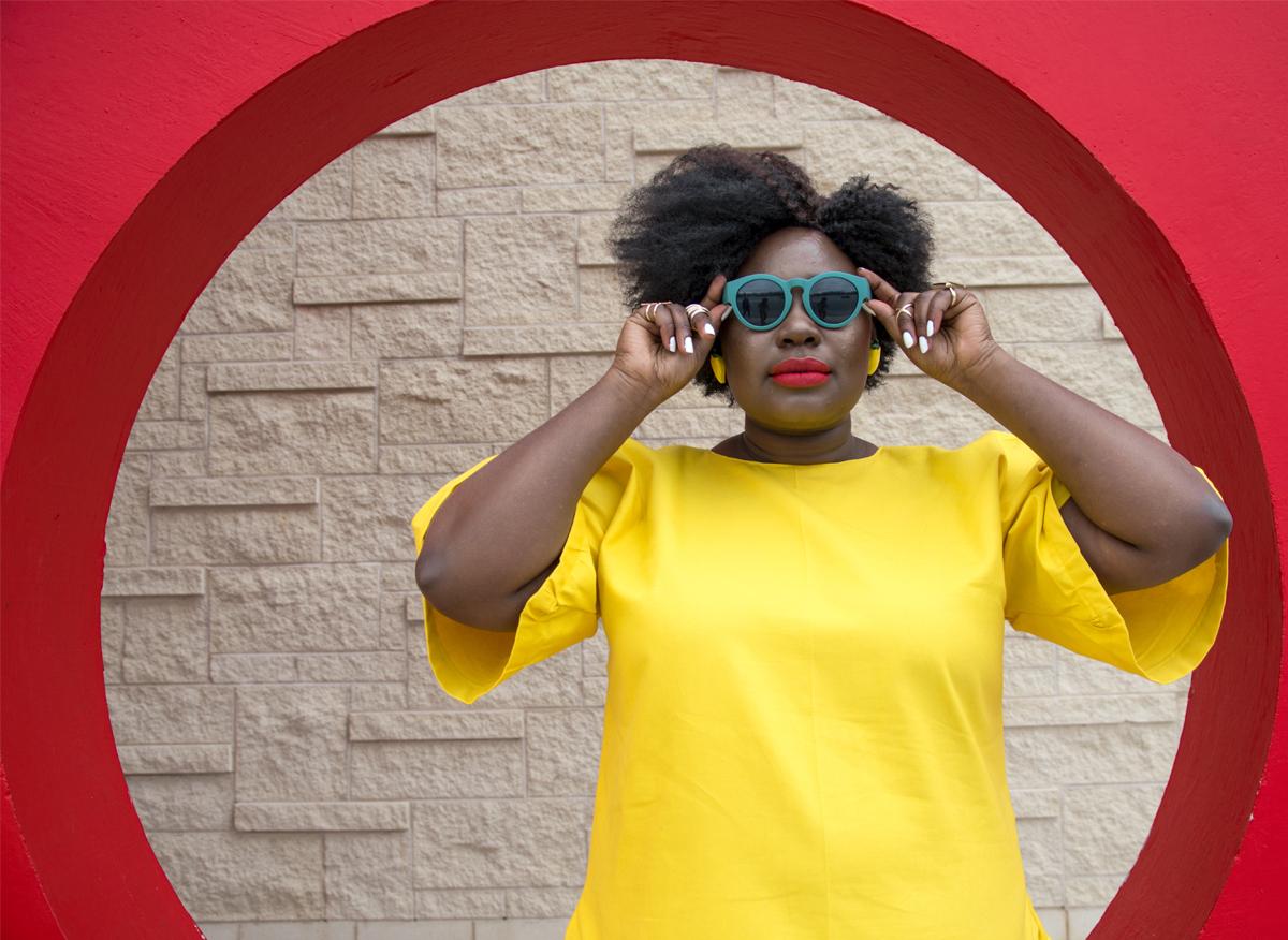 bush magazine mo handahu plus size full skirt plus size canadian blogger plus size summer style plus size mixing prints solange yellow dress 07