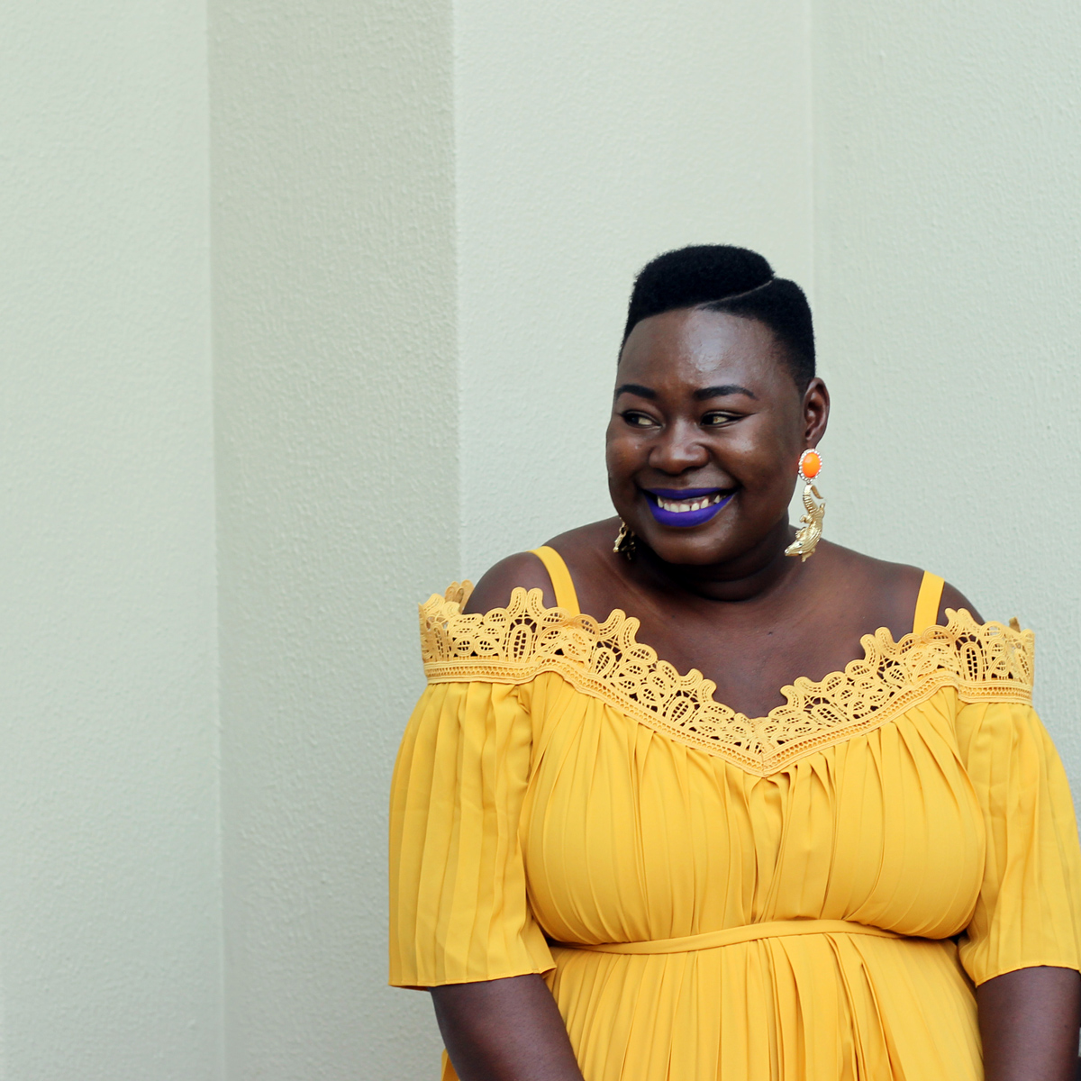 south africa fashion week outfit, plus size yellow dress, eloquii yellow dress, plus size fashion week streetstyle 02a